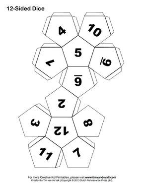 Make Your Own Dice In This Easy Diy Art Craft Project For Kids Several Printable Paper Dice Templates To Choose Fr Dice Template 12 Sided Dice Printable Paper