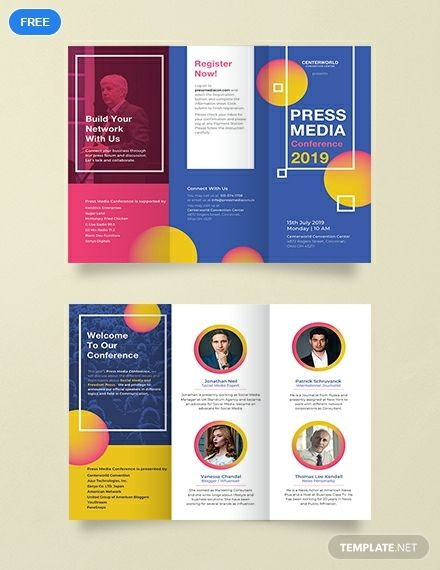 Free Conference Brochure Template Psd Illustrator Brochure Template Brochure Design Template Brochure