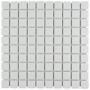 Merola Tile Palace White 11 3 4 In X 11 3 4 In X 5 Mm Porcelain Mosaic Tile Fxlpalw The Home Depot Mosaic Flooring Mosaic Tiles Merola Tile
