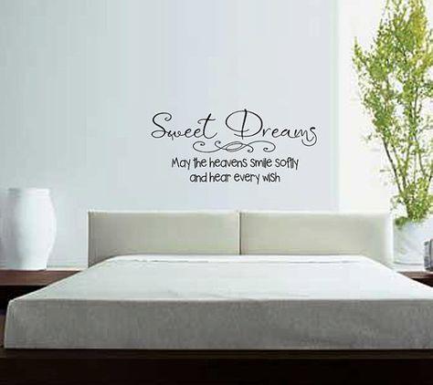 SWEET DREAMS VINYL DECAL WALL ART BEDROOM DECOR HOME LETTERING GIRLS  WORDS