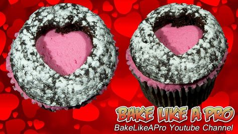 Heart Cupcakes Quick Trick !  / Valentine's Heart Cupcakes
