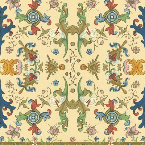 Forsooth! ~ Fanciful fabric by peacoquettedesigns on Spoonflower - custom fabric