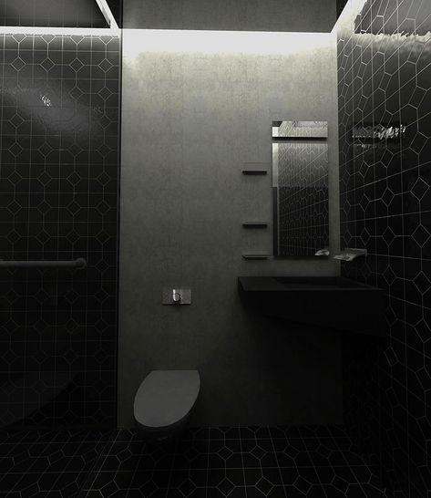 Bagni Neri Moderni 25 Foto Di Progetti Di Design Specchi Bagno