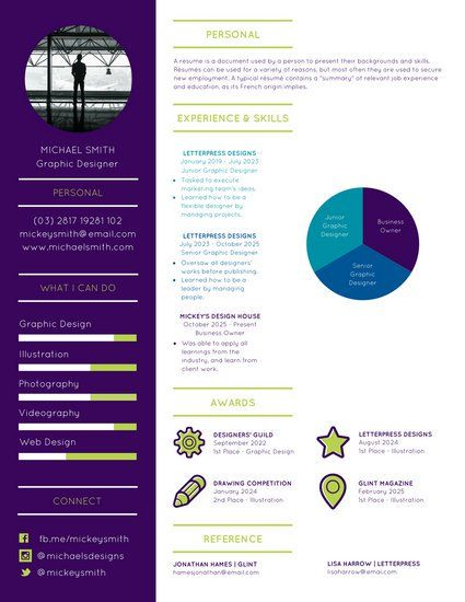 Purple Modern Infographic Resume Infographic Resume Resume Templates Infographic Resume Template