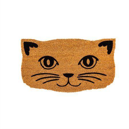 Home Coir Mat Cat Face