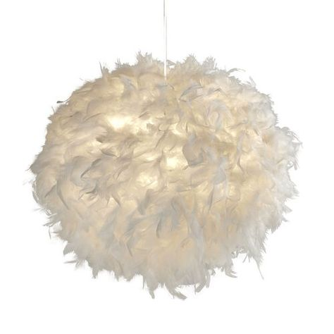 17 Stories 50cm Feather Novelty Pendant Shade Glass Pendant Shades