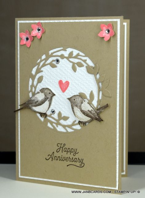 Birds Branches Anniversary Card Janb Cards Anniversary Cards Handmade Happy Anniversary Cards Anniversary Greeting Cards