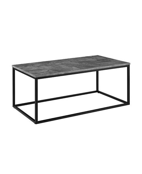 Black Storage Coffee Table Bronze Legs Article Oscuro Modern