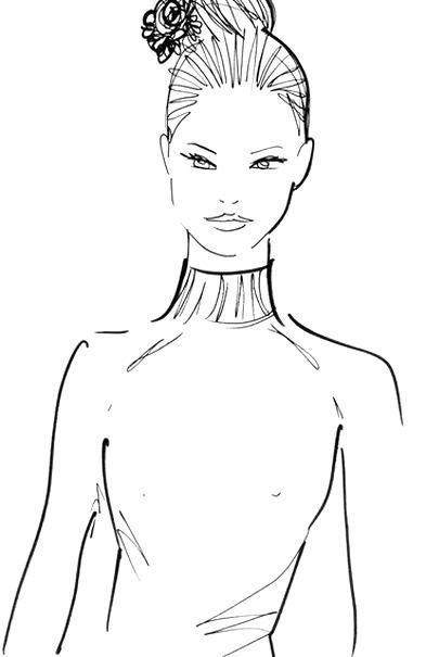 Hairstyles Topliment The Neckline Of Your Dress High Neck Strapless Boat Neck Etc In 2020 Boat Neck Hair Styles Male Sketch