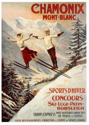 "16x24 1920s ""St Moritz Engadin 1856 m"" Vintage Style Swiss Ski Snow Poster"