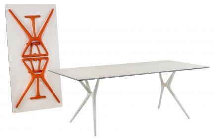 Tavolo Richiudibile Con Sedie Incorporate.Tavolo Spoon Table Kartell Tavolo Design Tavolo Pieghevole E Tavoli