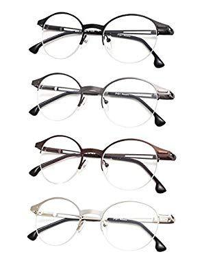 93e86738ad2 Agstum Retro Round Optical Rare Wire Rim Eyeglass Frame 49mm (Without Nose  Pads) Review