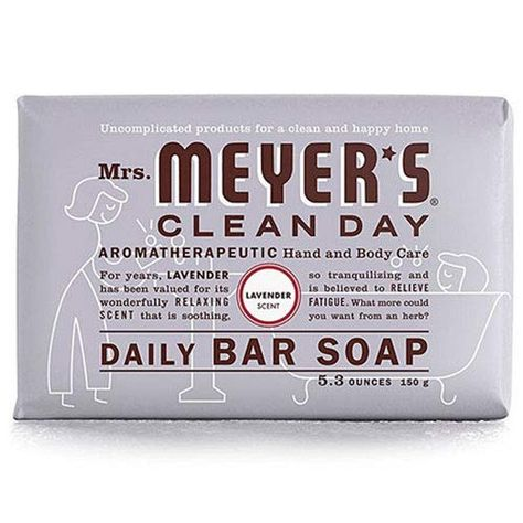 Mrs Meyers Bar Soap Lavender 5 3 Ounce 156ml 2 Pack M Https