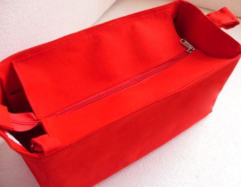 9a6a3c483071 Purse organizer for Louis Vuitton Neverfull GM with Zipper closure- Bag  organizer insert in Rich