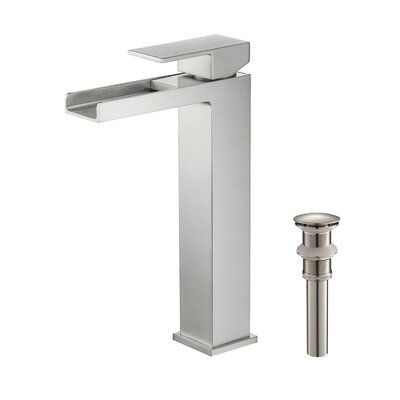 Kibi Usa Waterfall Vessel Sink Bathroom Faucet Finish Colour