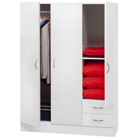 Armadio Ikea Brimnes 2 Ante.Armadio 3 Ante 2 Cass Bianco L120 H170 P52 Mobili Locker Storage