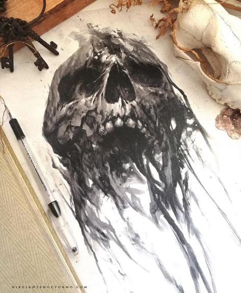 Amazing art by @dibujantenocturno #skull #skull💀 #skulls #skulls💀 #skully #skullcollection #skullz #skullart #skullartwork #skullhead…