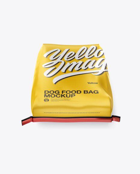 Download Dog Food Bag Mockup High Angle Shot In Bag Sack Mockups On Yellow Images Object Mockups Mockup Free Psd Bag Mockup Free Psd Mockups Templates