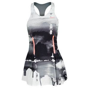 Atomic Pink Premier Maria Tennis Dress Be bold on the court in the Nike Women's Premier Maria Print ...