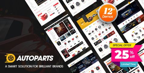 25% OFF AutoParts Shopify Theme