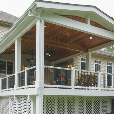 The Entire Deck Is Covered With A Roof Structure To Protect It From The  Weather Elements. | Deck That! | Pinterest | Roof Structure, Decking And  Weather