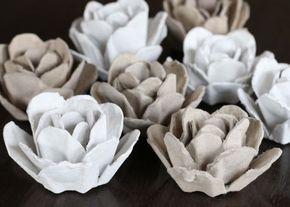 Cómo Hacer Flores Reciclando El Cartón Del Empaque De Huevos Lodijoella Flores De Caja De Huevos Cartones De Huevos Como Hacer Flores