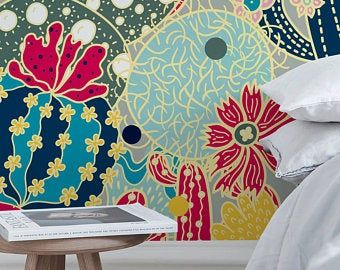 Removable Wallpaper Peel And Stick Wallpaper Wall Paper Wall Mural Abstract Pop Wallpaper A518 In 2020 Floral Wallpaper Removable Wallpaper Wallpaper