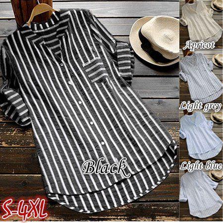 Tops Womens T-Shirt Size Loose Ladies Long Plus Boho Tunic Baggy Blouse Sleeve