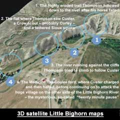 D Satellite Maps Of The Little Bighorn From Astonishercoms - Us map with little bighorn river