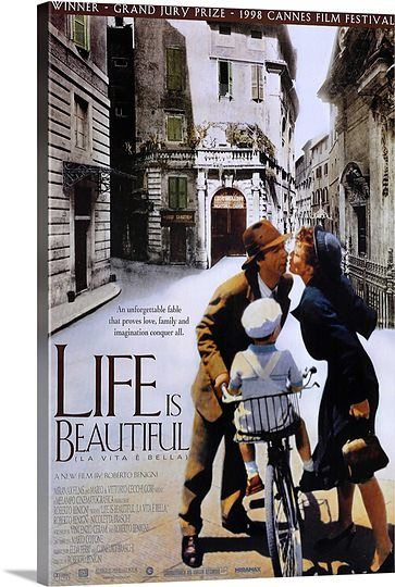 Life is Beautiful (1998) Solid-Faced Canvas Print