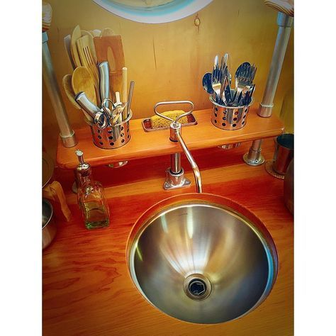 Tiny Dream House Tinyhouseexpedition Hand Pump Kitchen Sink