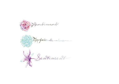 3 little floral temporary tattoo/ flower tatoo stickers- Temporary Tattoo- Tattoo Stickers
