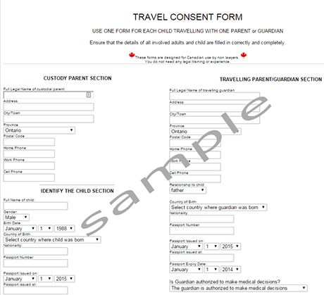 letter parental consent for minor travel template child form word - child travel consent form usa