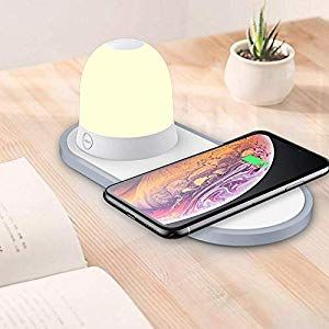 Qi Fast Wireless Chargerwomdee Nachttischlampe Ladefunktionled