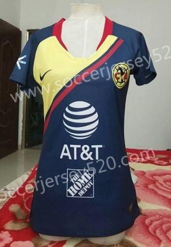 the best attitude 48e46 194c5 2018-19 Club America Away Blue Female Thailand Soccer Jersey ...