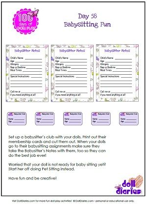Welcome to the Dollhouse - membership card template word