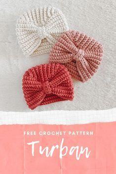 Crochet Toddler Hat, Baby Girl Crochet, Crochet Baby Hats, Free Crochet, Easy Crochet Hat, Newborn Crochet, Turban Crochet, Bonnet Crochet, Knitted Headband