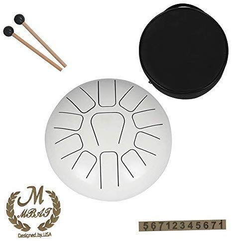 Muslady Steel Tongue Drum 12 Inch 11 Tone Hand Pan Drum Stainless Steel Percussion Instrument With Drum Mallets Carry In 2020 Percussion Instruments Drums Instruments