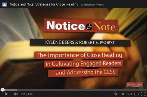 © 2013. Notice & Note VIDEO STUDY GUIDE: A conversation series with authors Kylene Beers and Robert E. Probst developed to support reading and discussion of the book. Broken into 5-15 minute clips, these videos cover how the book came to be, organization of the content, tips on implementing the literary signposts, and more. Consider watching the clips for a team meeting or as a book study warm up; as discussion starters, or as reading reflection companions for individuals.