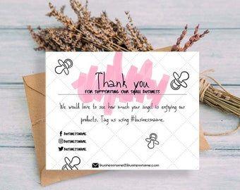Gracias Por Su Negocio Orden Tarjeta De Agradecimiento Thank Etsy Place Card Holders Cards Card Holder