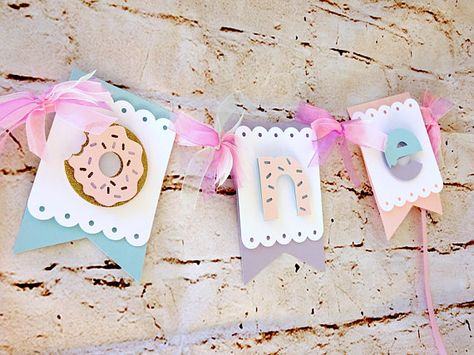 Party Decorations Birthday Banner Donut High Chair Banner