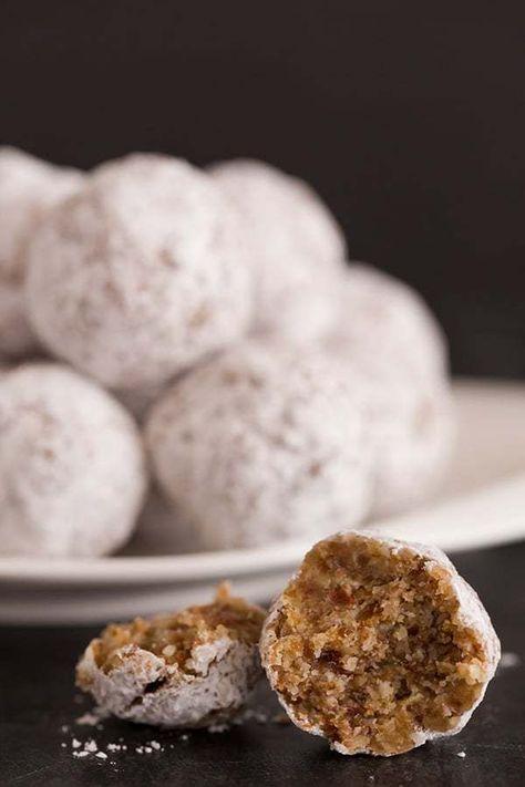 Paleo Snowball Cookies