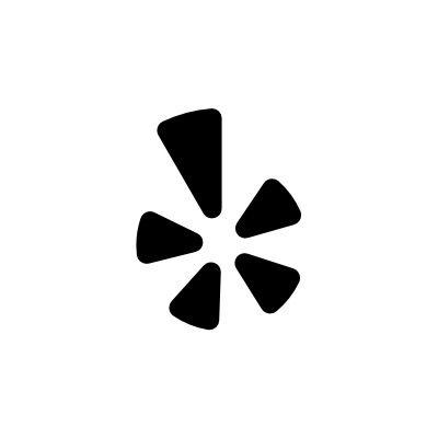Black White Yelp App Icon Iphone Design App Icon Black App