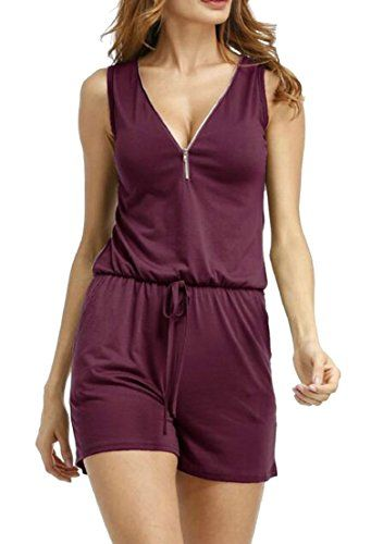 Zilcremo Women Jumpsuits Romper Short Sleeve Summer Casual Wide Leg Shorts Rompers