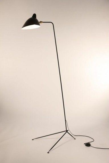 Serge Mouille Serge Mouille Straight Floor Lamp Lampadaire Lampe Sur Pied Serge Mouille