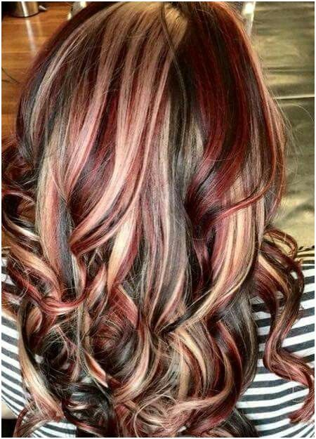 30 Blonde Highlights On Red Hair Technique Hair Color Unique Brunette Hair Color Latest Hair Color