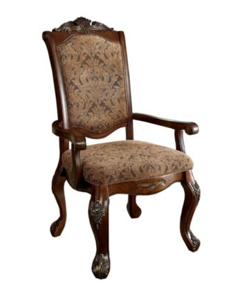 Furniture Of America Fellin Antique Cherry Armchair Set Of 2