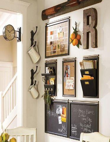 "Great way to organize my ""mom"" wall"