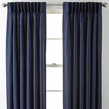 Jcpenney Home Supreme Pinch Pleat Curtain Panel Pleated Curtains