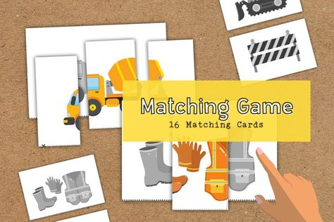Matching Construction Educational Activity Cards